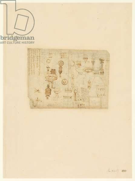 Codex Atlanticus, sheet 399 recto