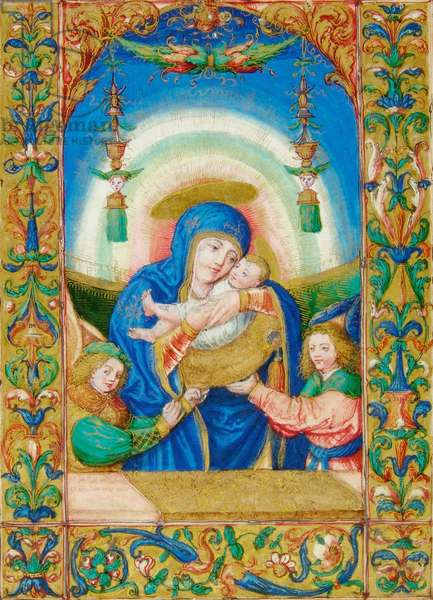 Madonna with Child and Two Angels,
