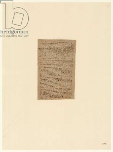 Codex Atlanticus, sheet 299 recto