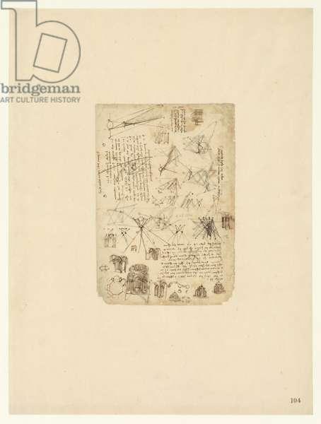 Codex Atlanticus, sheet 104 recto