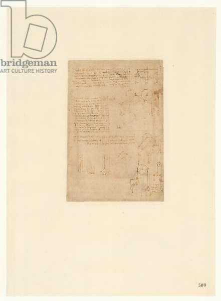 Codex Atlanticus, sheet 509 recto