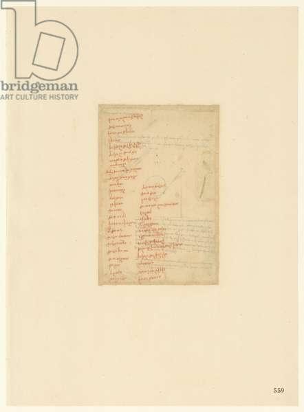 Codex Atlanticus, sheet 559 recto