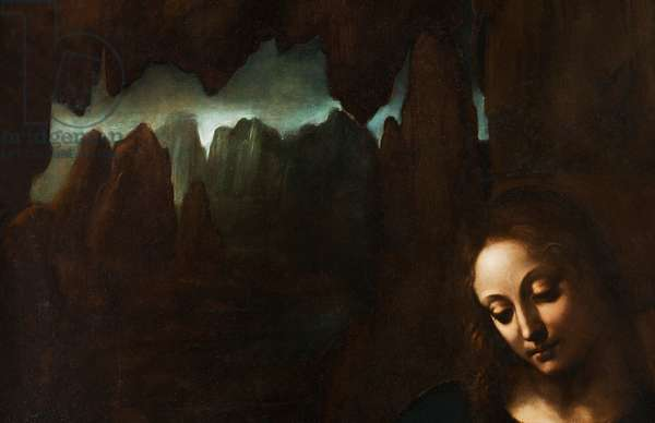 Rocks, detail from The Virgin of the Rocks, after Leonardo da Vinci (1452-1519), c.1611-18 (oil on panel)