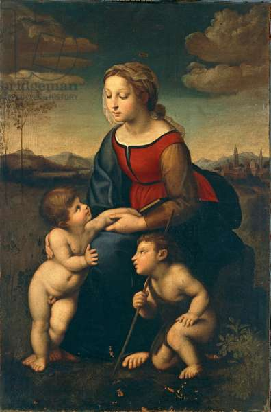 Madonna with Child and the Infant Saint John the Baptist (oil on canvas)