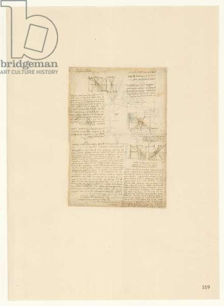 Codex Atlanticus, sheet 519 recto
