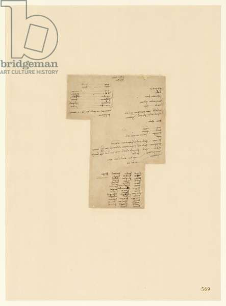 Codex Atlanticus, sheet 569 recto