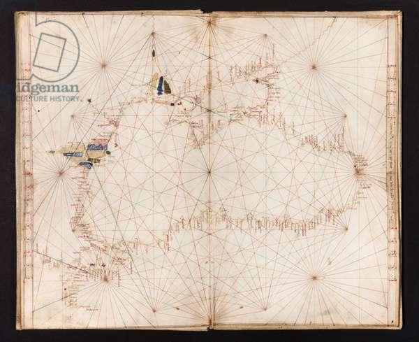 Atlas of 6 parchment portulan charts