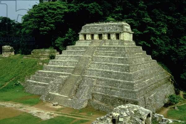 Temple of the Inscriptions, Maya, c.600 AD (photo)