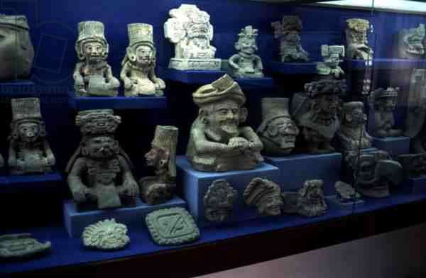 Figurines of Pre Columbian gods (pottery and stone)