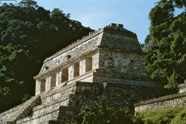 Top of the Temple of the Inscription, Maya, 7th century (photo)