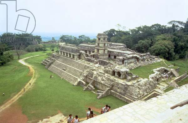 View of the centre of the site, including the palace, Maya (photo)