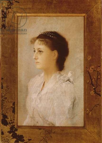 Emilie Floge, 1891 (pastel on paper)