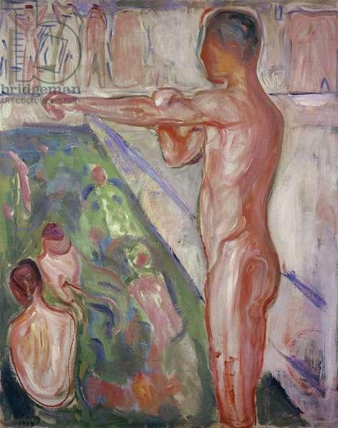 A Bathing Establishment, 1907 (oil on canvas)