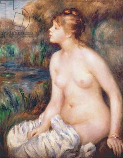 Seated Female Nude, 1891 (oil on canvas)