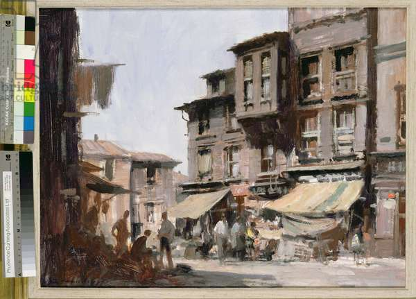 Wooden Houses, Istanbul (oil on board)