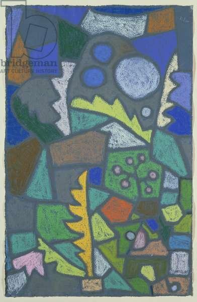 Flower Garden, 1932 (pastel on blue paper)