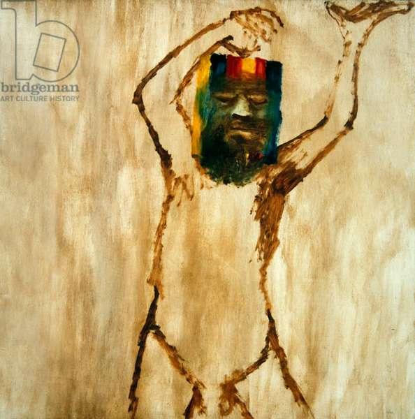 Ned Kelly IV, 1962 (oil on hardboard)