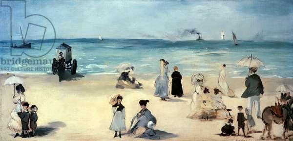 On the Beach, Boulogne-sur-Mer, 1868 (oil on canvas)