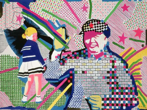 Mao and Blonde Girl Analyzed, 1992 (acrylic on canvas)