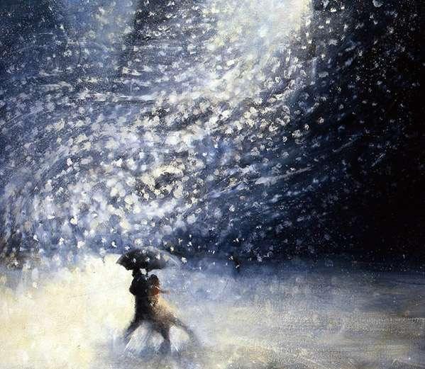 Snowy Night IV, 2009 (oil on canvas)