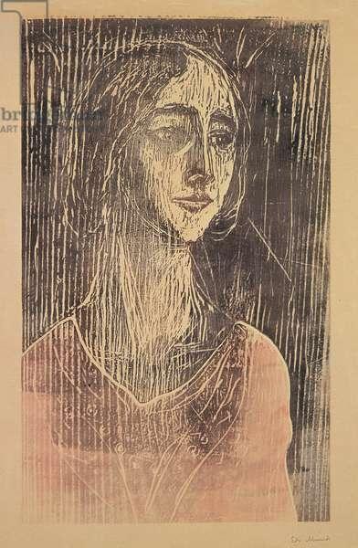 The Gothic Girl (Birgitte III) 1930 (woodcut)