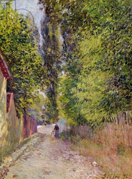 Landscape near Louveciennes, 1876 (oil on canvas)