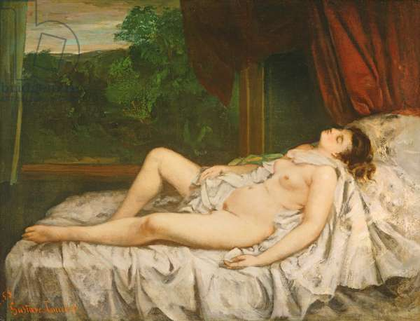 Reclining Nude, 1858 (oil on canvas)