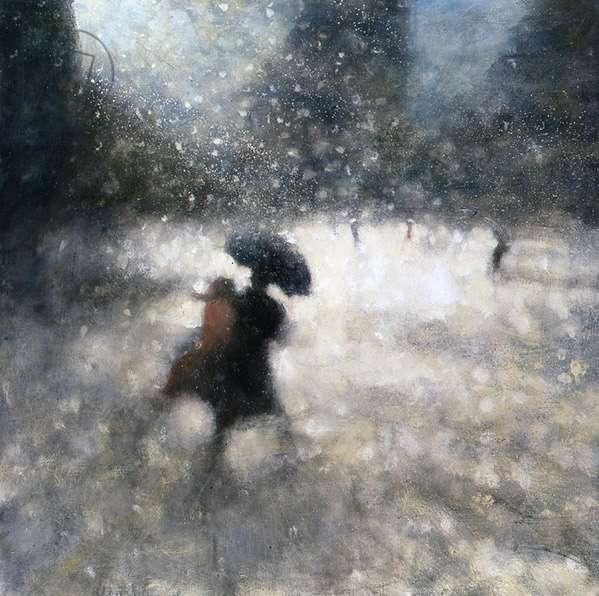 Black Umbrella IV, 2008 (oil on canvas)