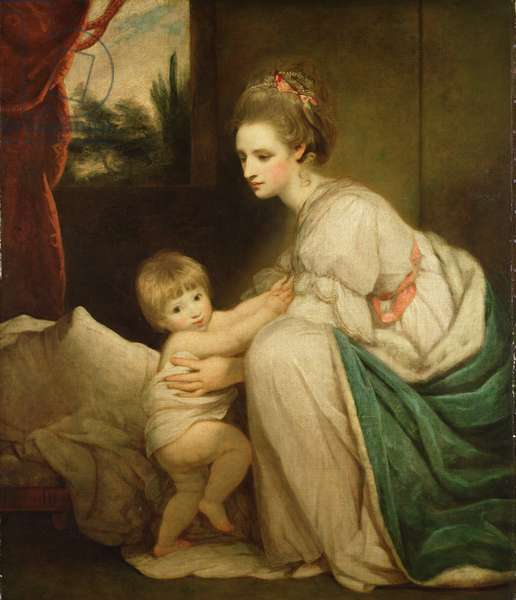 Mrs William Beresford (d.1807) and her son, John (1773-1855) later Lord Decies, c.1775 (oil on canvas)