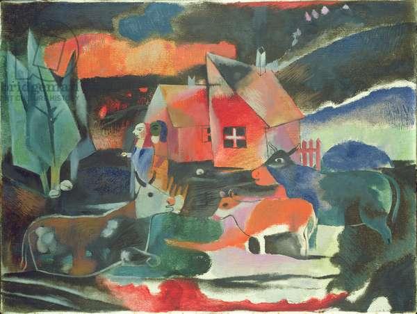 Large Scale Landscape (oil on canvas)