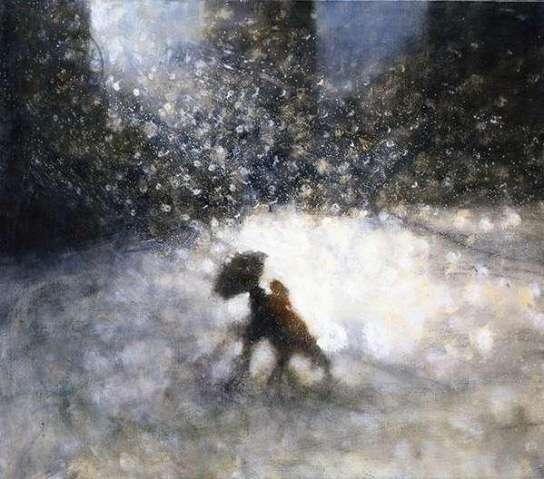 Black Umbrella V, 2008 (oil on canvas)