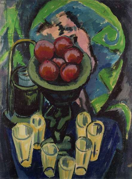 Still Life with Glasses, 1913 (oil on canvas)