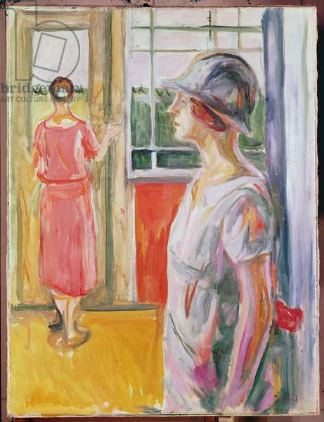 Two Women on a Veranda, 1923-24 (oil on canvas)