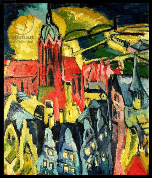 Frankfurt Cathedral, 1916 (oil on canvas)