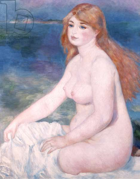 Bather (Blonde Bather II) 1882 (oil on canvas)
