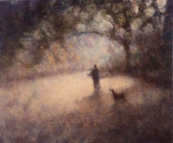 Literature Walk, Central Park IX, 2001 (oil on canvas)
