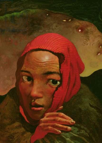 An Outcast, 1992 (oil on canvas)