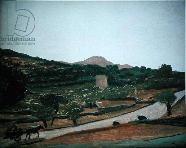 Landscape near Bandol, 1927 (oil on canvas)
