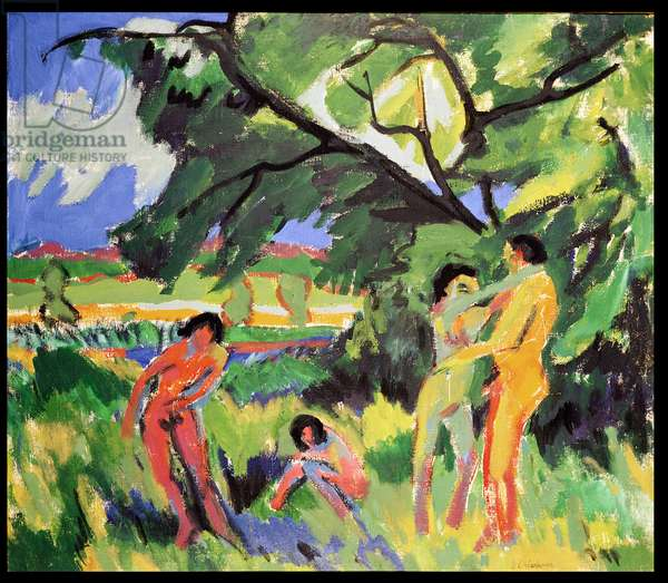 Nudes Playing under Tree, 1910 (oil on canvas)