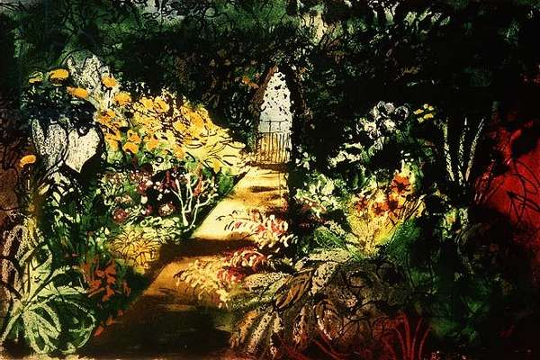 Summer Garden, Fawley Bottom, 1984, edition of 85 (intaglio print)