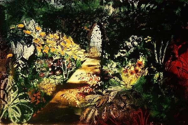 Summer Garden, Fawley Bottom, 1984, edition of 85 (intaglio print)