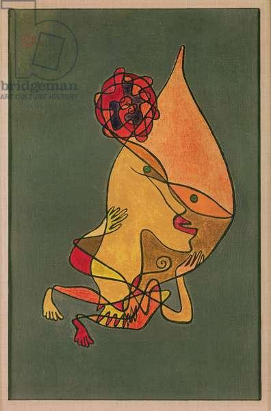 Rose Dwarf, 1927 (no 145) (oil on muslin on cardboard)