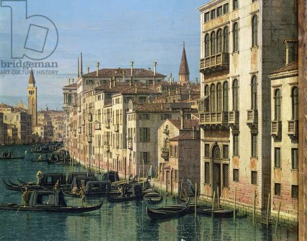 Entrance to the Grand Canal: Looking West, c.1738-42 (oil on canvas) (see 160385 for detail)