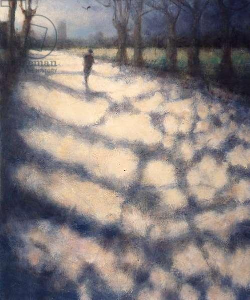 Literature Walk, Central Park X, 2002 (oil on canvas)