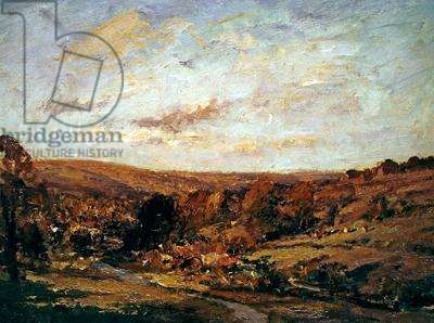 A Gloucestershire Valley (oil on board)