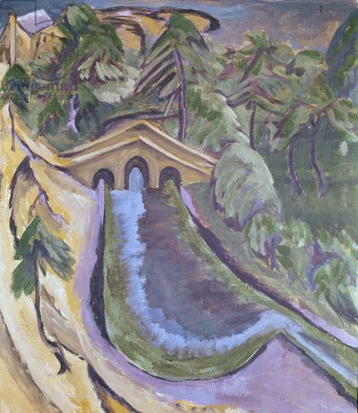 Taunus Valley: Small Bridge in the Woods, 1916 (oil on canvas)