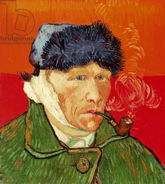 Self Portrait with Bandaged Ear, 1889 (oil on canvas)