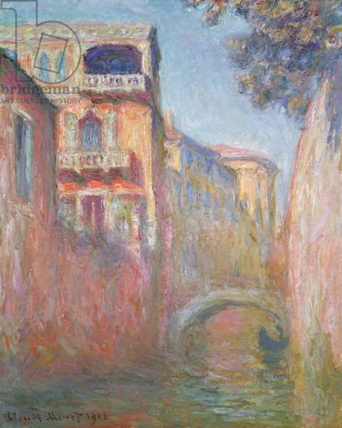 Venice - Rio de Santa Salute, 1908 (oil on canvas)