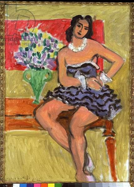 La Danseuse au Tutu Bleu, 1942 (oil on canvas)