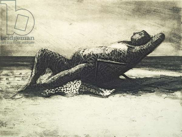Girl in Deck Chair, from `Coney Island Suite', 1992, edition of 30 (soft-ground etching and aquatint)